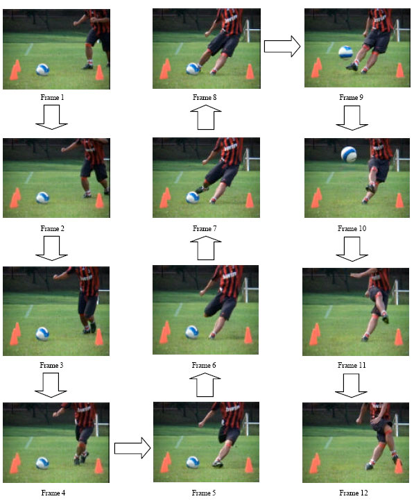 Biomechanics analysis for right leg instep kick scialert 3 front view kicking pictures according to frame ccuart Gallery