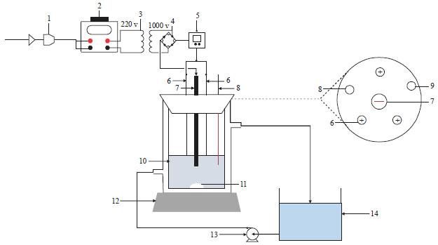 degradation of linear alkylbenzene sulfonate using multi