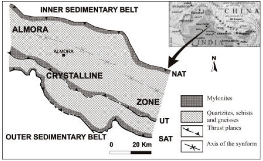 Image for - Anisotropy of Magnetic Susceptibility in the Almora Crystalline Zone Lesser Himalaya, India: A Case Study