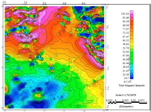 Image for - Estimation of Magnetic Basement Depths Beneath the Abeokuta Area, South West Nigeria from Aeromagnetic Data Using Power Spectrum