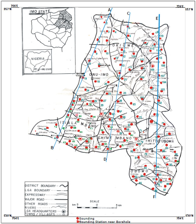 Image for - Geoelectric Investigation of the Hydraulic Properties of the Aquiferous Zones for Evaluation of Groundwater Potentials in the Complex Geological Area of Imo State, Nigeria