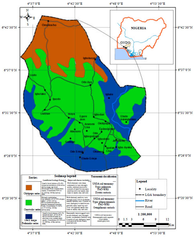 Image for - Characterization and Classification of Soils in Okitipupa Local Government    Area, Ondo State, Nigeria