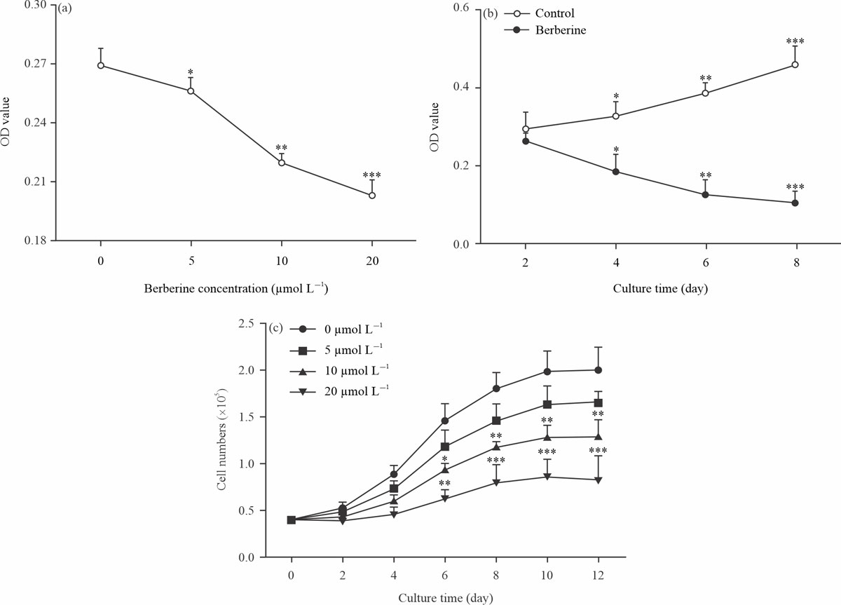 Image for - Regulatory Effects of Berberine on Adipogenic Differentiation in Porcine Intramuscular Preadipocytes Through the Multi-Gene Pattern