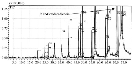 Image for - Gas Chromatography and Gas Chromatography-mass Spectrometry Analysis of Indonesian Croton tiglium Seeds