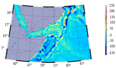 Image for - Determination of Gravity Anomalies over the Arabian Sea