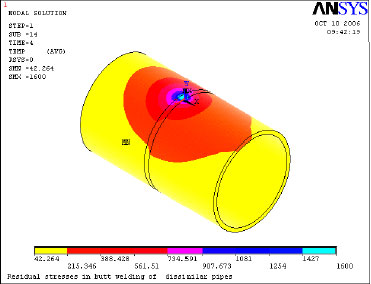 Image for - Investigation and Analysis of Weld Induced Residual Stresses in Two Dissimilar Pipes by Finite Element Modeling