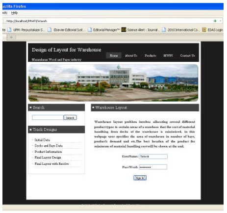 Image for - Web-enabled Decision Support System for Warehouse Layout Problem