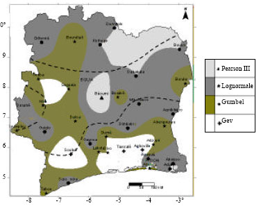 Image for - Frequency Analysis and New Cartography of Extremes Daily Rainfall Events in Côte d'Ivoire