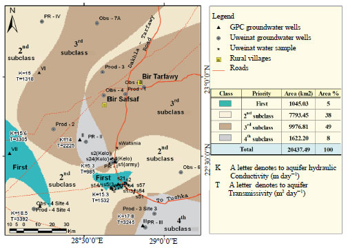 Image for - Hydrogeochemical Attributes and GIS Spatial Modeling in Determining Areas    for Horizontal Expansion of Development Projects in East Uweinat, Egypt