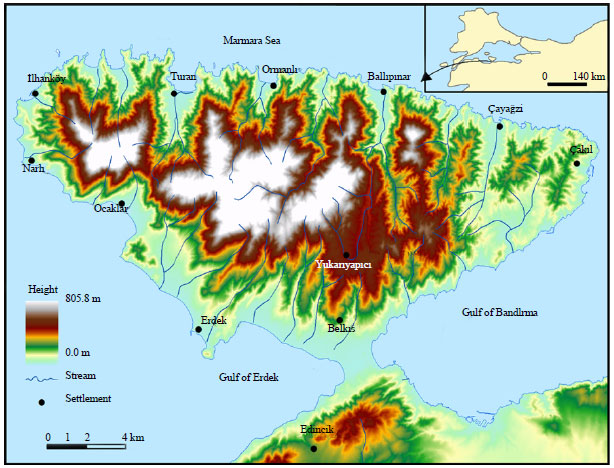 Image for - Effect of Topographic Habitat Characteristics on the Spatial Distribution of Landuse-Landcover in the Kapidag Peninsula, Turkey